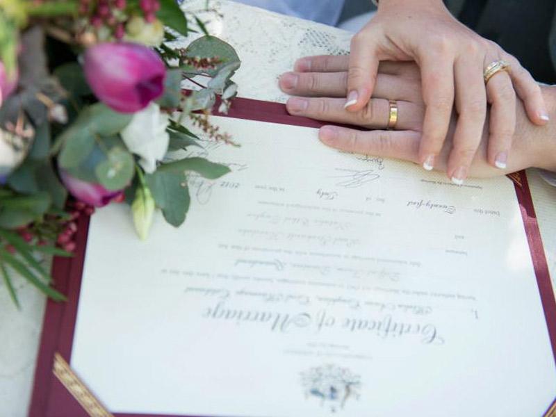 Matrimonio Civil para Mayores de edad (solteros)