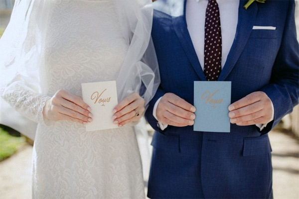 Votos matrimoniales románticos para tu boda