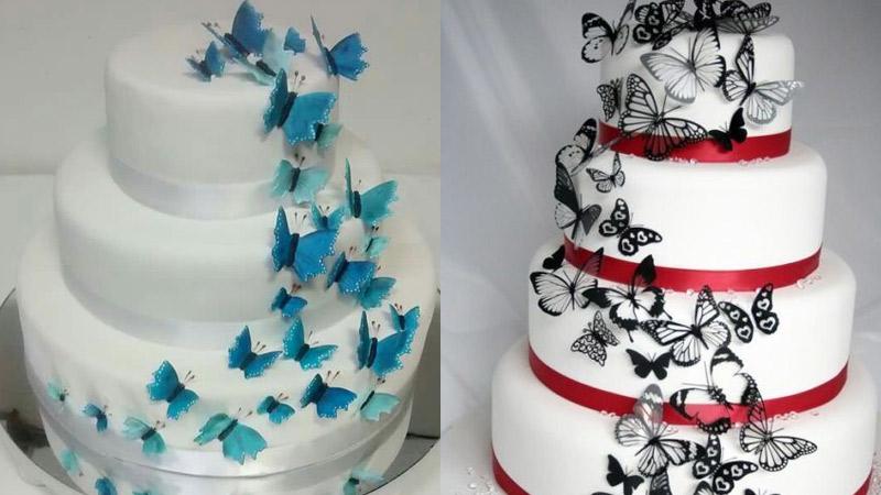 Torta de bodas con Mariposas