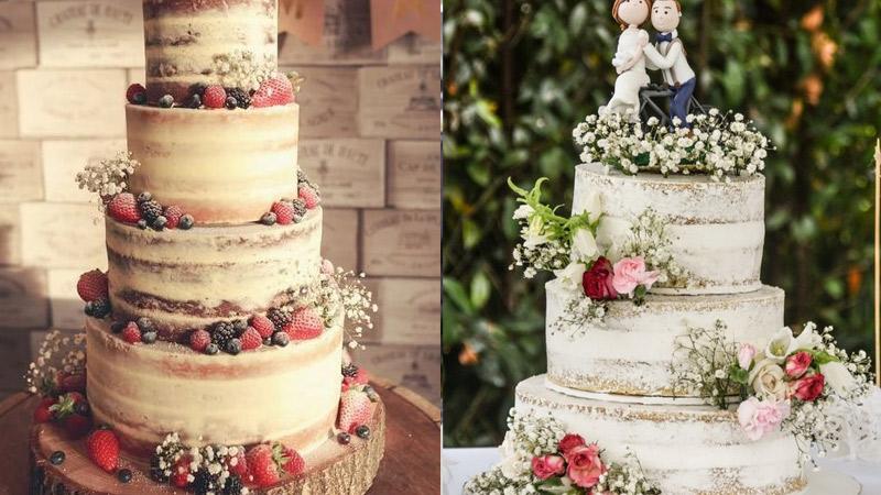 Tortas rústicas para matrimonios al aire libre